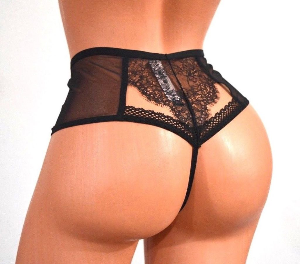 High waist lace thongs every mans dream