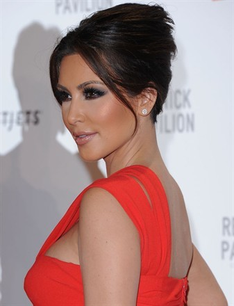 Kim-Kardashian-Sexy-One-Shoulder-Red-Dress