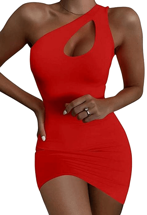 Cheap sexy red women sexy bodycon dress