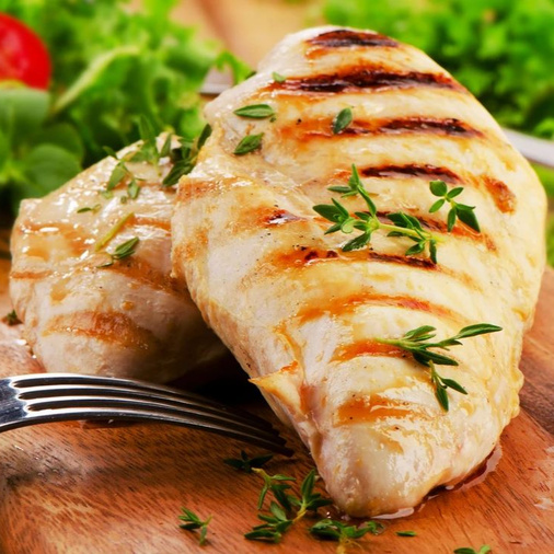 Skinless chicken breast for growing glutes (firm buttocks)