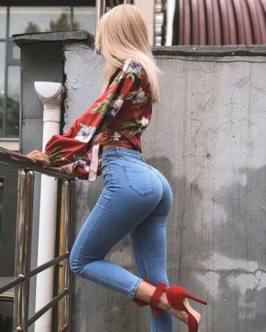 best female ass in jeans