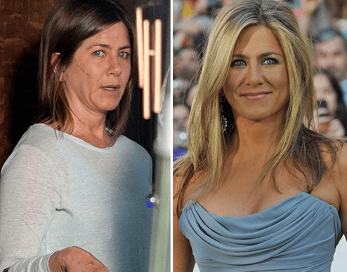 Jennifer Aniston - looking ugly and looking pretty